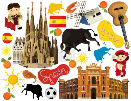 National Spain elements - illustration for the chi...