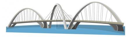 Photo pour Cartoon bridge - illustration pour les enfants - image libre de droit