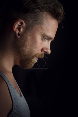Serious Man in Profile