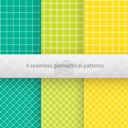 Illustration for Set of geometrical seamless background.Hand drawn vector illustration. - Royalty Free Image