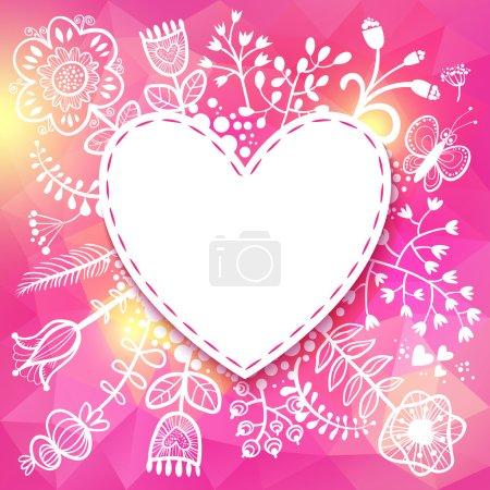 Flower Heart frame.