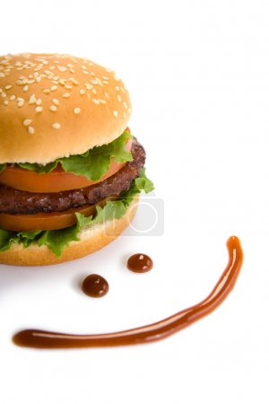 Burger and happy smile