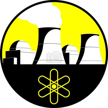 Illustration for Nuclear power plant symbol - Royalty Free Image