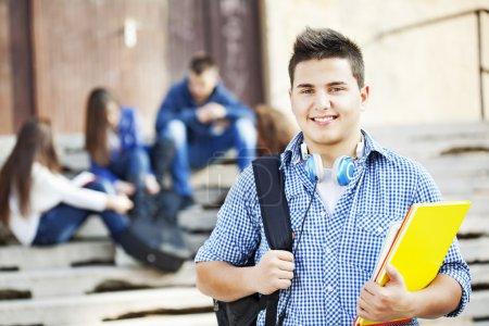 Cheerful student