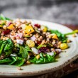 Healthy salad with spinach,quinoa and roasted vege...