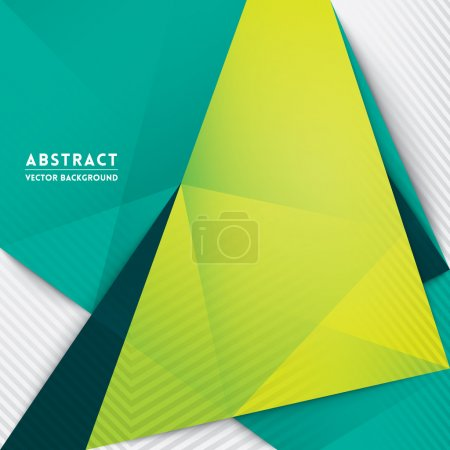 Illustration for Abstract Triangle Shape Background for Web Design  Print  Presentation - Royalty Free Image
