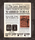 Vintage Newspaper Wedding Invitation card Design