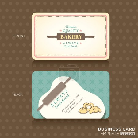 retro vintage business card for bakery house