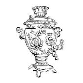 Vector illustration of a Russian samovar