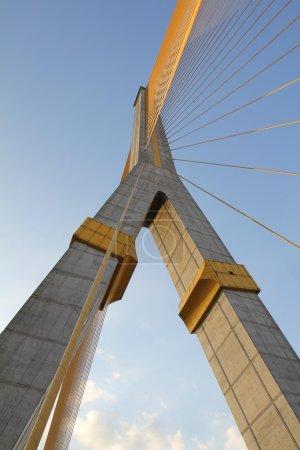 River Bridge in Bangkok Rama eight.