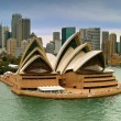 Sydney opera house seen from a cruise ship...