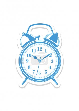 Alarm blue clock