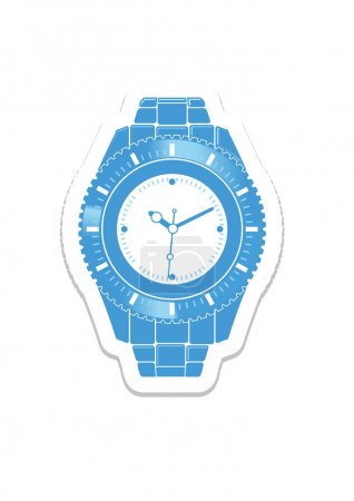 Vector wristwatch isolated on the white background