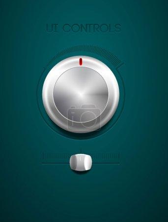 Metallic controls and tuners