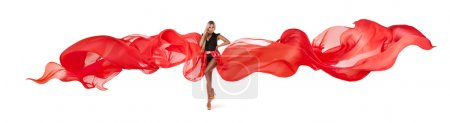 Photo for The beautiful blonde in red skirt - Royalty Free Image