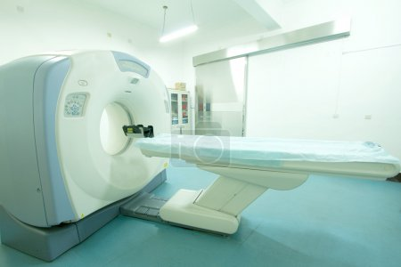 Modern CT (cat) scanner machine in hospital