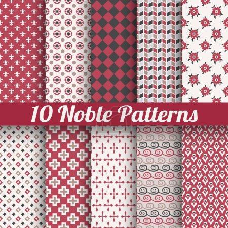 Noble elegant vector seamless patterns (tiling)