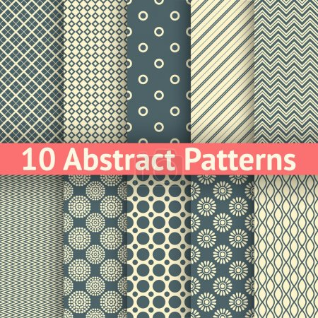 Abstract vintage vector seamless patterns