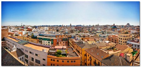 Valencia, Spain. Skyline of the town.