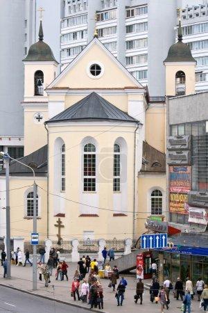 Christian church in city