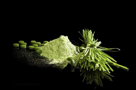 Green Dietary supplements.