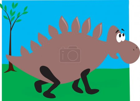 Illustration for Illustration of a dinosaur walking - Royalty Free Image