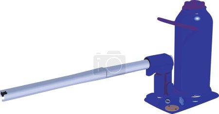Hydraulic pump with handle