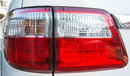 Red car light isolate