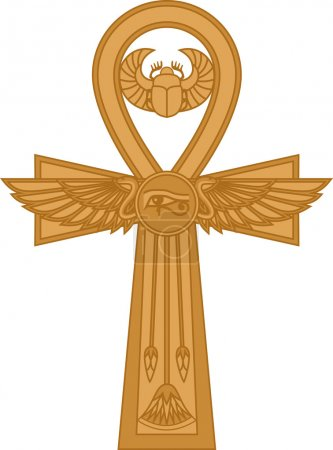 Illustration of egyptian cross Ankh isolated on wh...