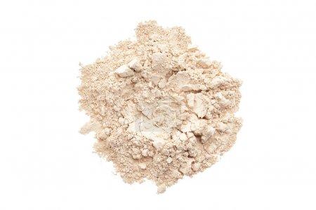 Photo pour Fond de teint poudre de maquillage isolé sur fond blanc - image libre de droit