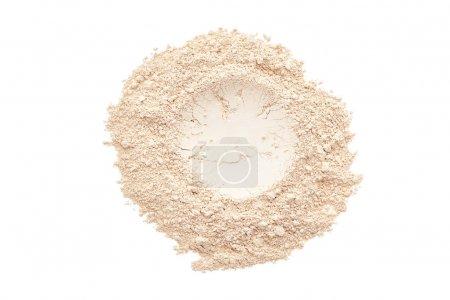 Photo pour Maquillage poudre isolée sur fond blanc - image libre de droit