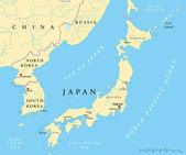 Japan North Korea And South Korea Political Map