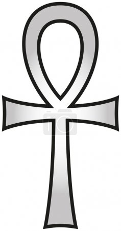 Ankh, also known as key of life, key of Nile, crux...