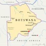 Постер, плакат: Botswana Political Map