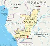 Republic of the Congo Political Map