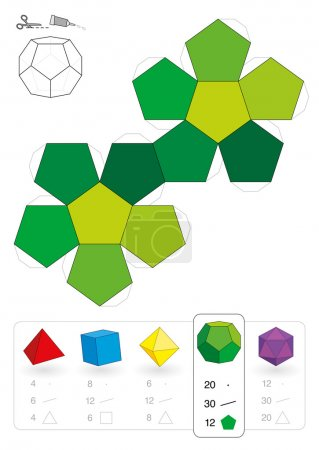 Paper Model Dodecahedron