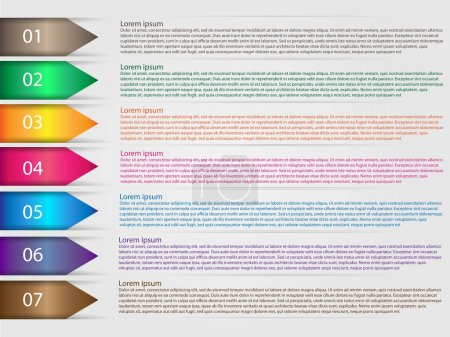 Illustration for Options infographics template arrows - Royalty Free Image