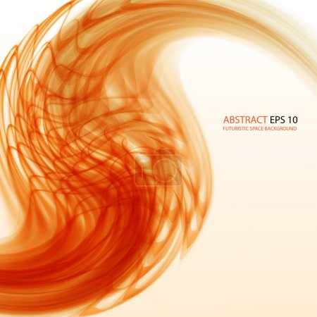 Illustration for Bright orange abstract background. EPS10 - Royalty Free Image