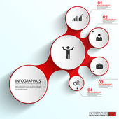 Abstract paper infographic EPS10