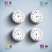 Abstraktní 3d digitální infographic