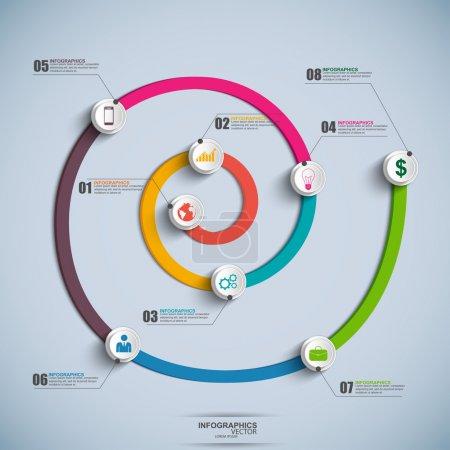 Illustration for Spiral Timeline Infographics. EPS10 - Royalty Free Image