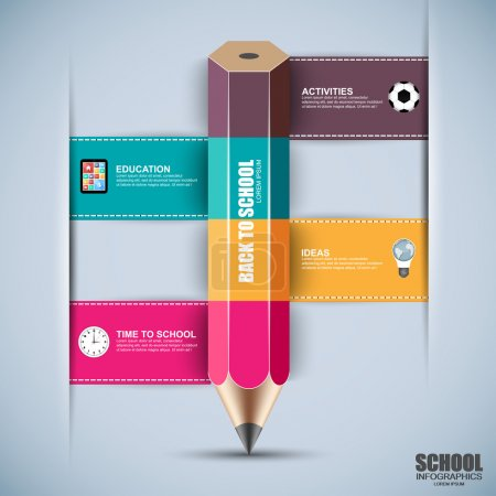 Back to school infographics design template