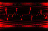 Colorful human heart normal sinus rhythm electrocardiogram record Bright and bold design EPS10
