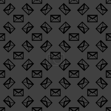 mail envelope web icon. flat design. Seamless pattern.