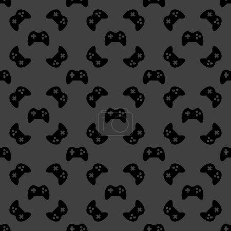 Illustration pour Jeu Joystick icône web. design plat. Modèle sans couture. Vecteur EPS10 - image libre de droit