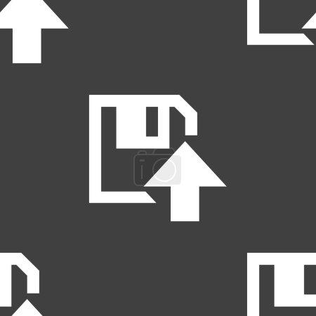 Floppy disk upload web icon. flat design. Seamless...