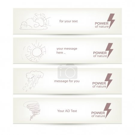 Photo for Set of banners with different weather conditions, place for your text - Royalty Free Image