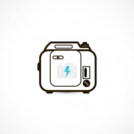 Gasoline powered portable generator icon isolated