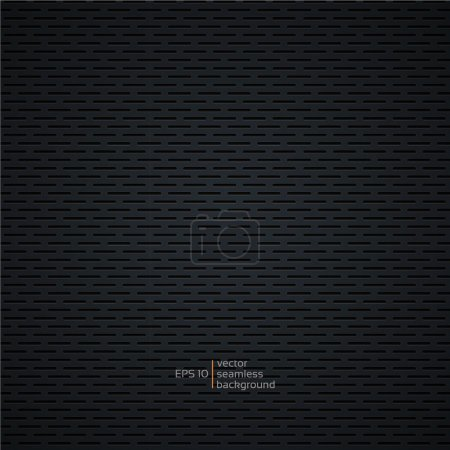 Carbon metallic seamless pattern, background-vector