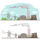 """Постер, картина, фотообои """"электроснабжение промышленного города (вектор)"""""""